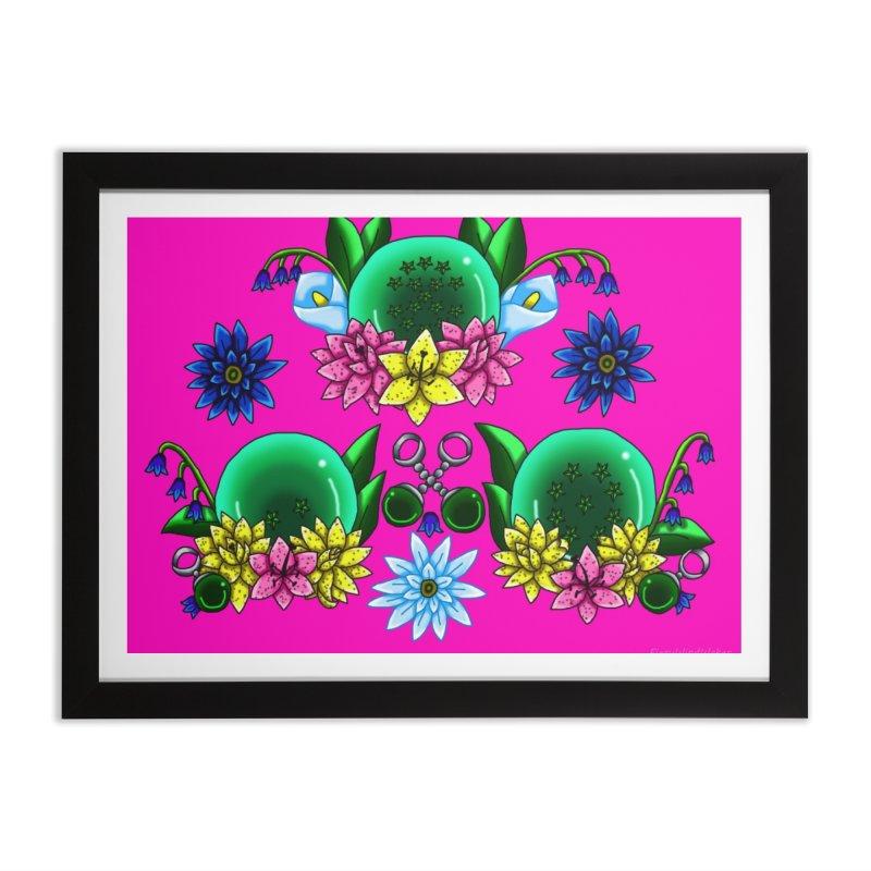 Inverted May Birthstone Dragonballs #26 Home Framed Fine Art Print by FieryWindWaker's Artist Shop