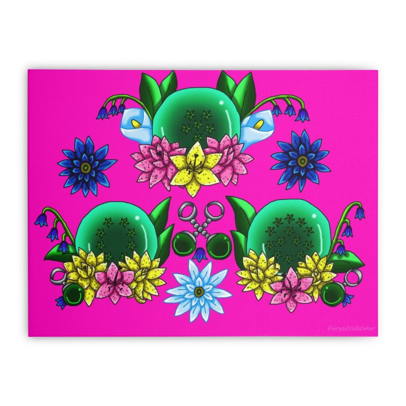 Inverted May Birthstone Dragonballs #27 Home Stretched Canvas by FieryWindWaker's Artist Shop