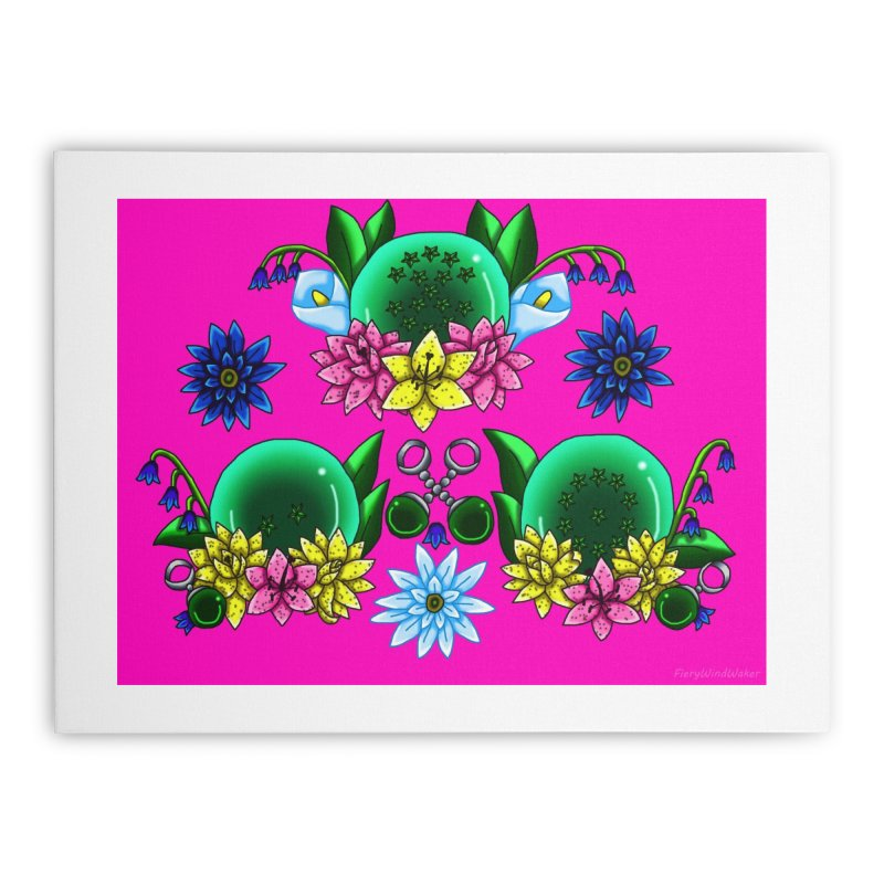 Inverted May Birthstone Dragonballs #28 Home Stretched Canvas by FieryWindWaker's Artist Shop