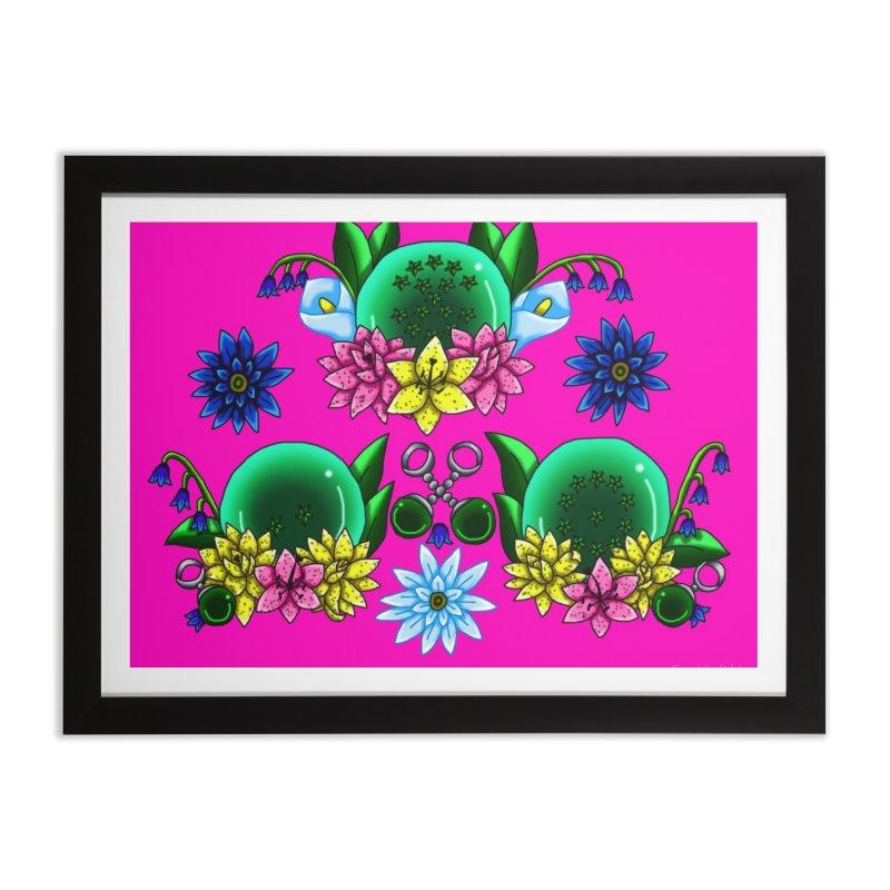 Inverted May Birthstone Dragonballs #28 Home Framed Fine Art Print by FieryWindWaker's Artist Shop