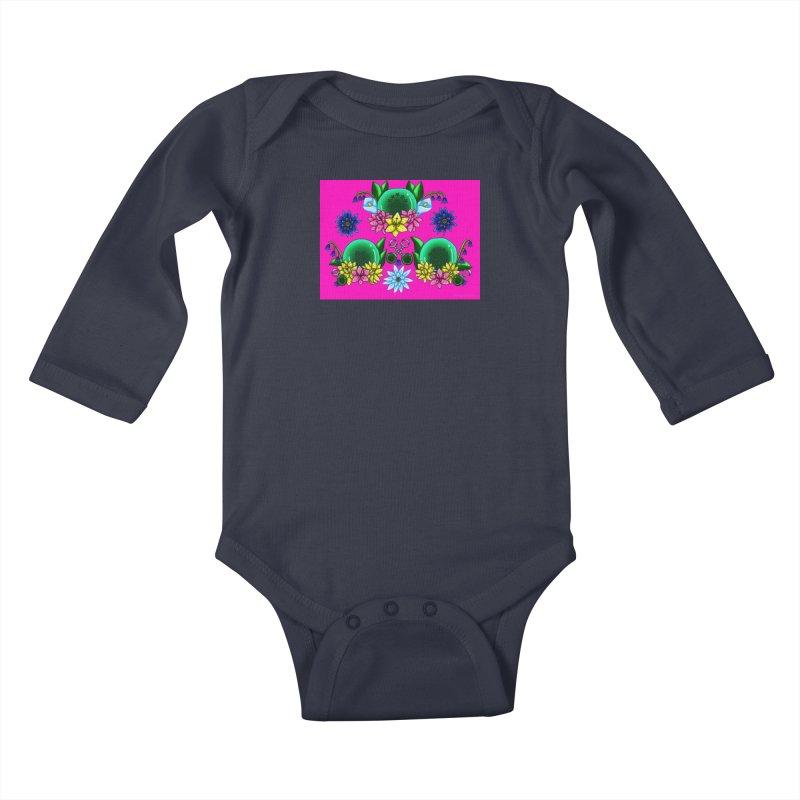 Inverted May Birthstone Dragonballs #31 Kids Baby Longsleeve Bodysuit by FieryWindWaker's Artist Shop