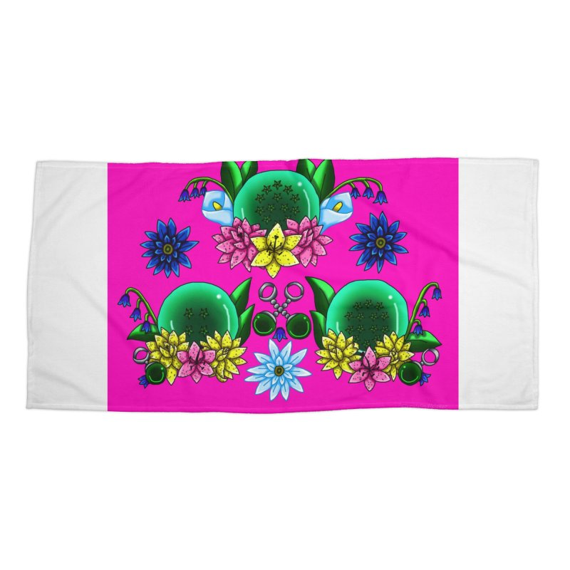 Inverted May Birthstone Dragonballs #31 Accessories Beach Towel by FieryWindWaker's Artist Shop