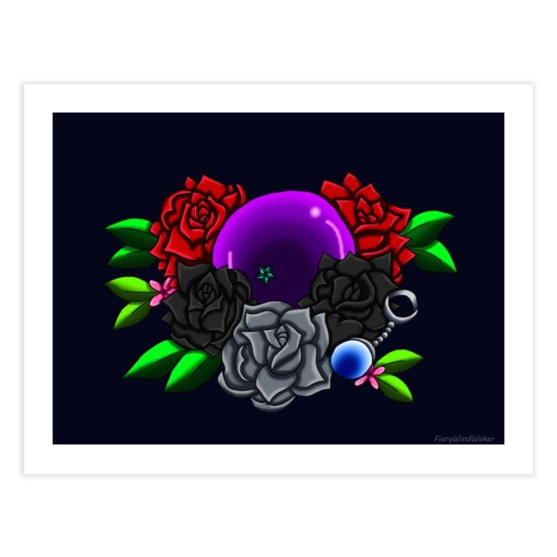 Inverted June Birthstone Dragonball #1 Home Fine Art Print by FieryWindWaker's Artist Shop