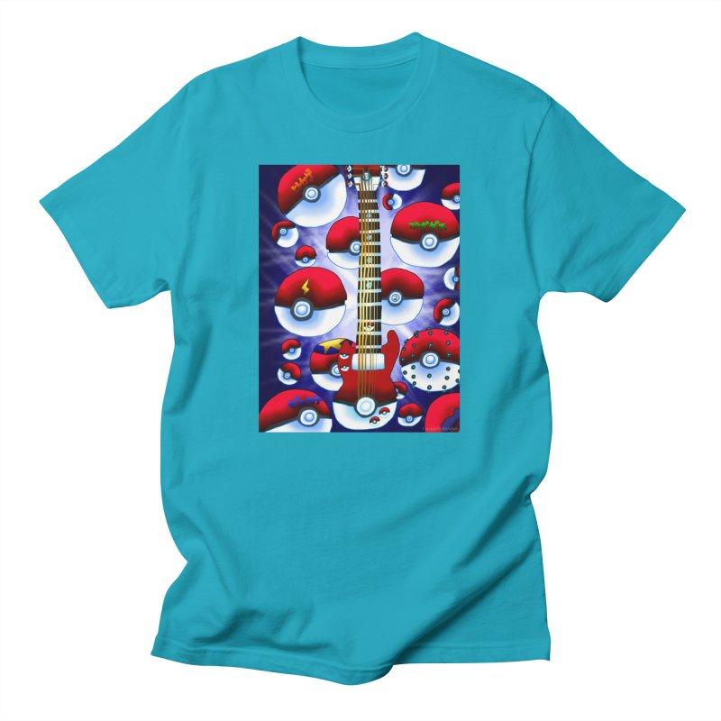 Pokeball Guitar #1 - Poke Ball Men's T-Shirt by FieryWindWaker's Artist Shop