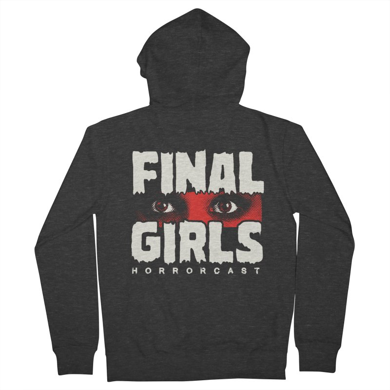 Final Girl Logo Men's French Terry Zip-Up Hoody by Final Girls Horrorcast's Artist Shop