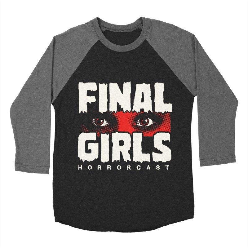 Final Girl Logo Men's Baseball Triblend Longsleeve T-Shirt by Final Girls Horrorcast's Artist Shop