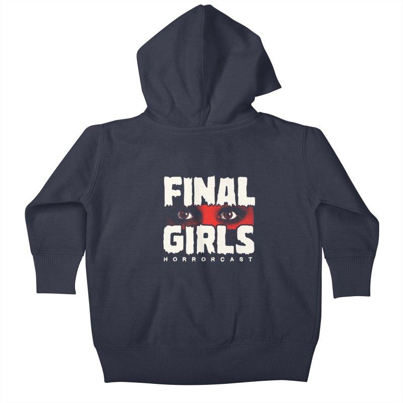 Final Girl Logo Kids Baby Zip-Up Hoody by Final Girls Horrorcast's Artist Shop