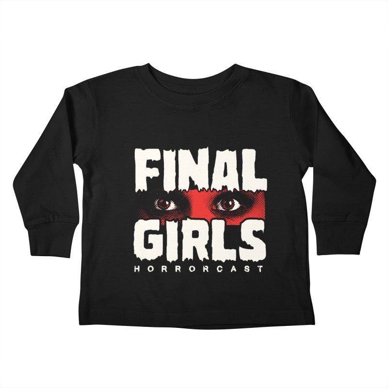 Final Girl Logo Kids Toddler Longsleeve T-Shirt by Final Girls Horrorcast's Artist Shop