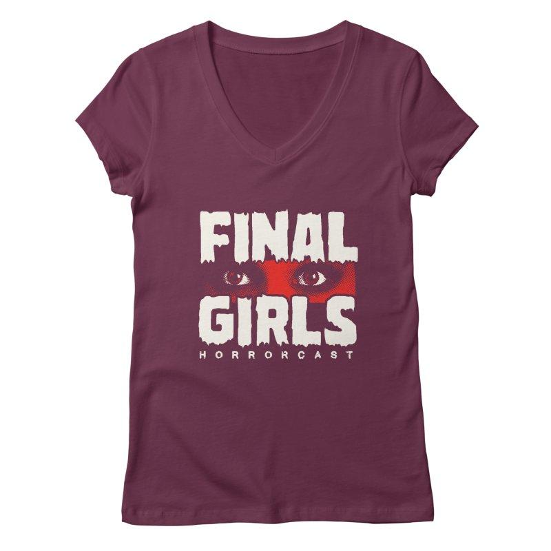 Final Girl Logo Women's Regular V-Neck by Final Girls Horrorcast's Artist Shop