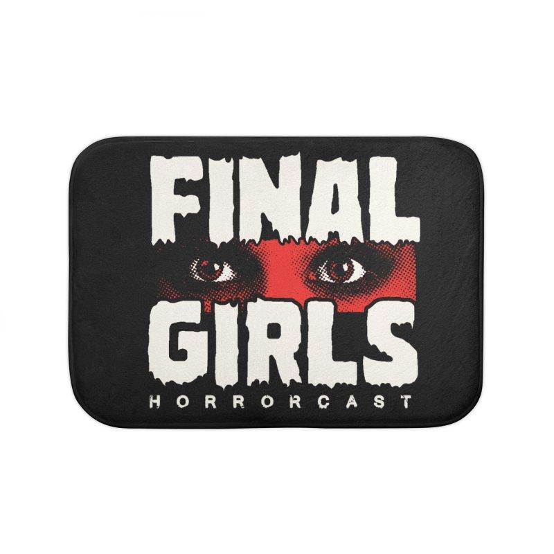 Final Girl Logo Home Bath Mat by Final Girls Horrorcast's Artist Shop