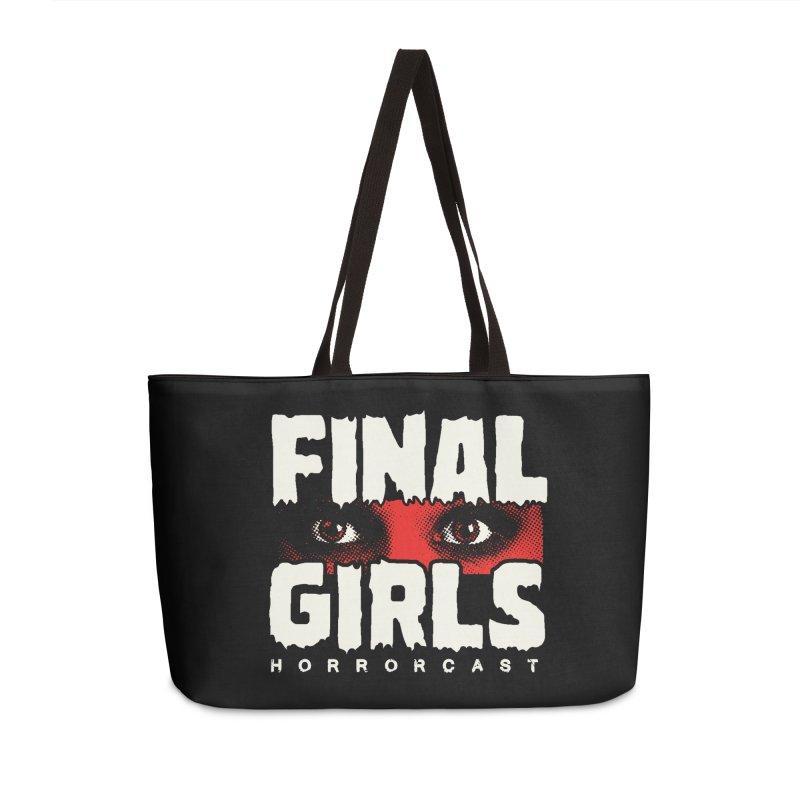 Final Girl Logo Accessories Weekender Bag Bag by Final Girls Horrorcast's Artist Shop