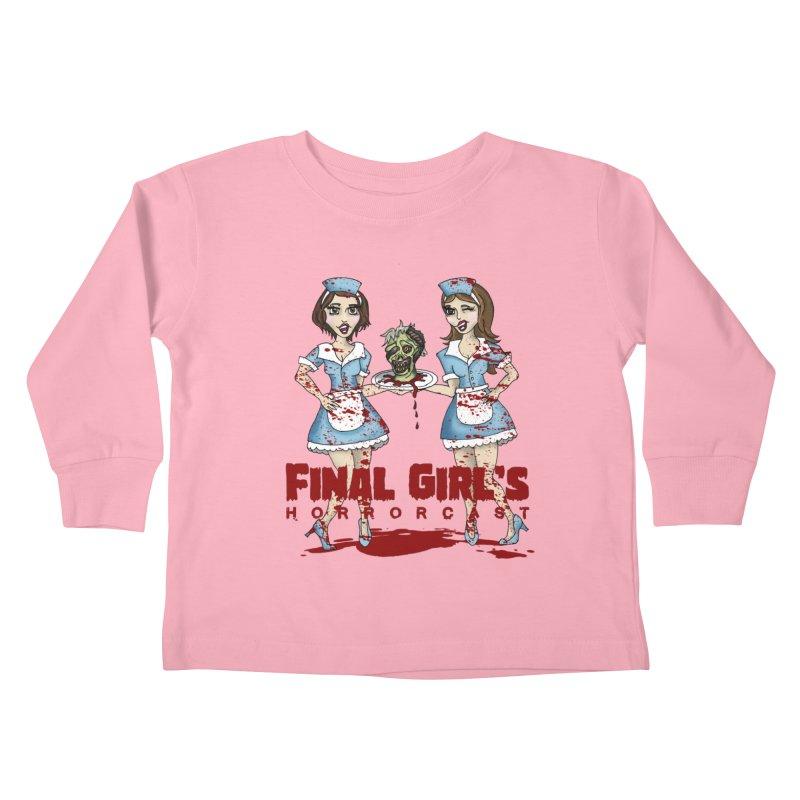 Final Girls Diner Kids Toddler Longsleeve T-Shirt by Final Girls Horrorcast's Artist Shop