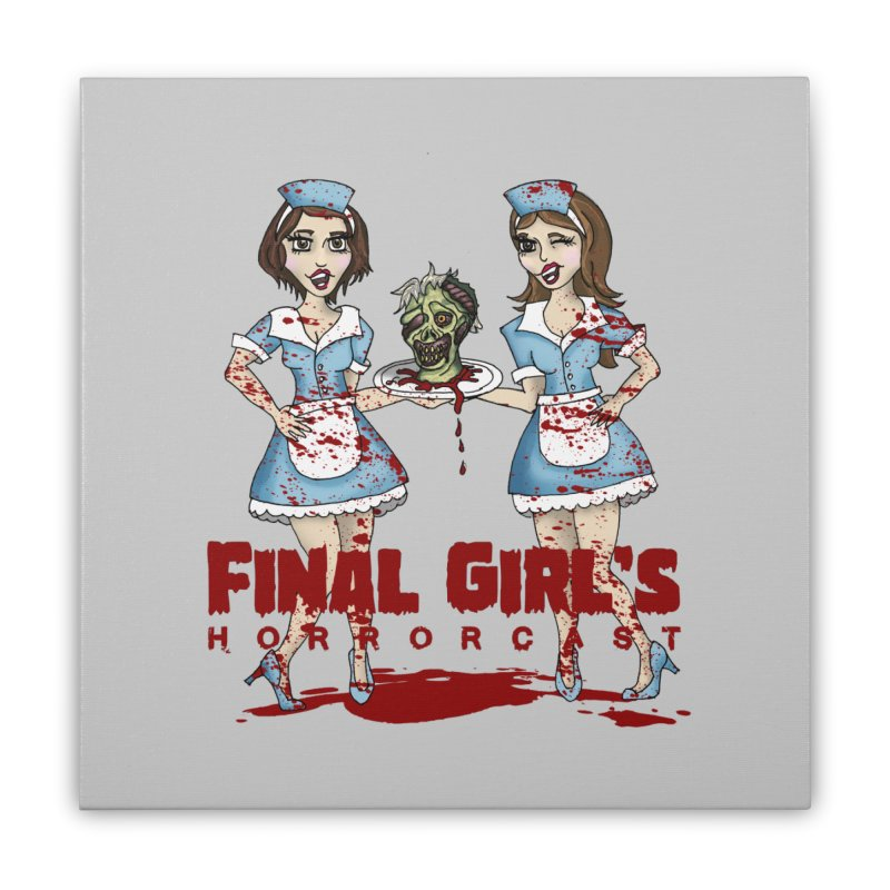 Final Girls Diner Home Stretched Canvas by Final Girls Horrorcast's Artist Shop