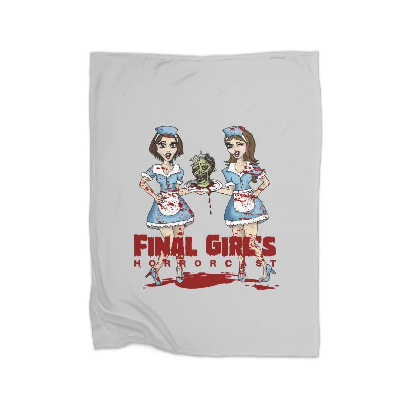 Final Girls Diner Home Fleece Blanket Blanket by Final Girls Horrorcast's Artist Shop
