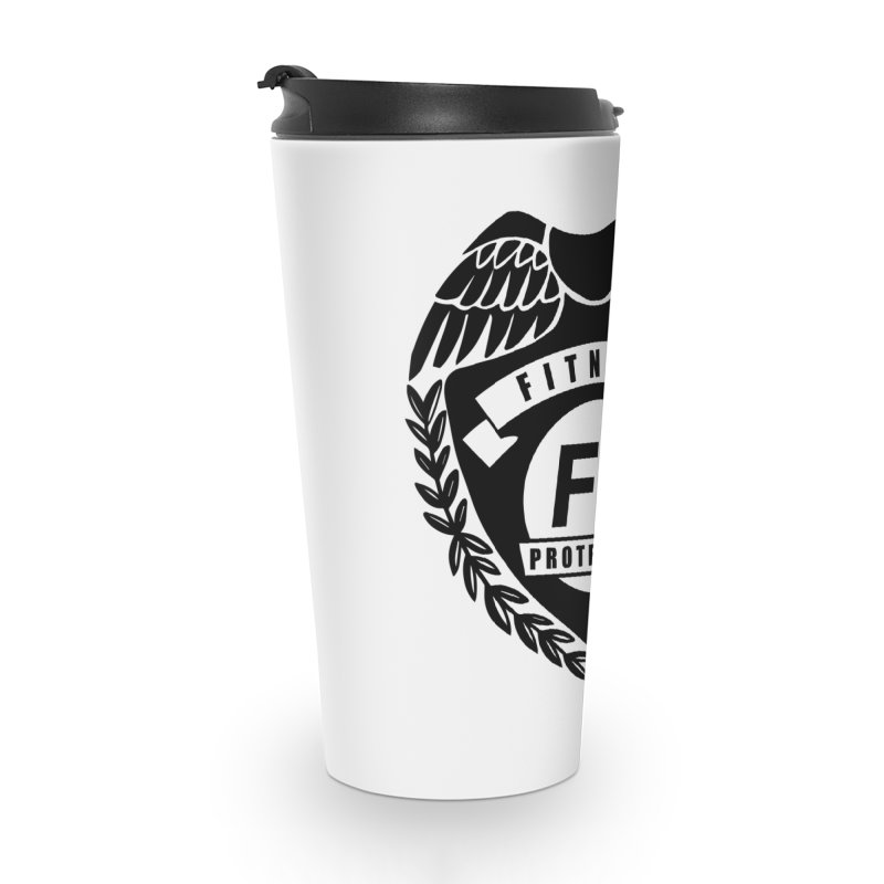 Fitness Protection Accessories Travel Mug by Official Merch of the Fitness Protection Program