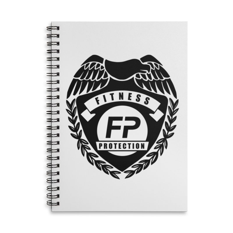 Fitness Protection Accessories Lined Spiral Notebook by Official Merch of the Fitness Protection Program