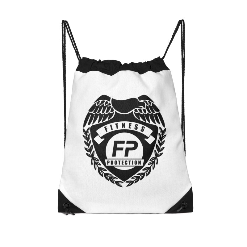 Fitness Protection Accessories Drawstring Bag Bag by Official Merch of the Fitness Protection Program