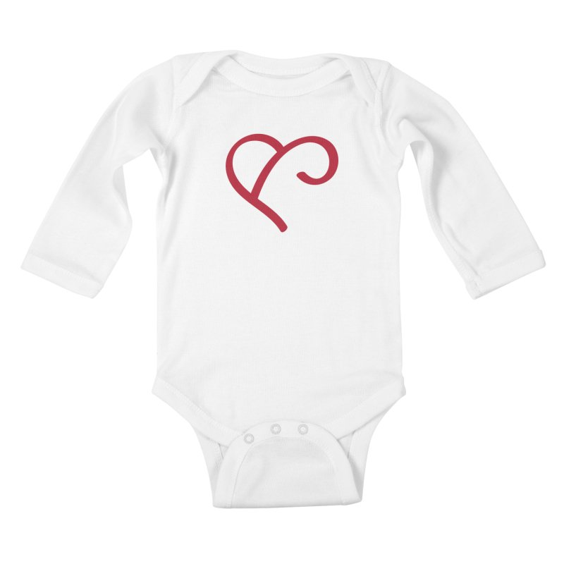 Basic Red Ampersand Kids Baby Longsleeve Bodysuit by Official Merch of the Fitness Protection Program