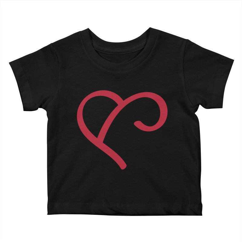 Basic Red Ampersand Kids Baby T-Shirt by Official Merch of the Fitness Protection Program
