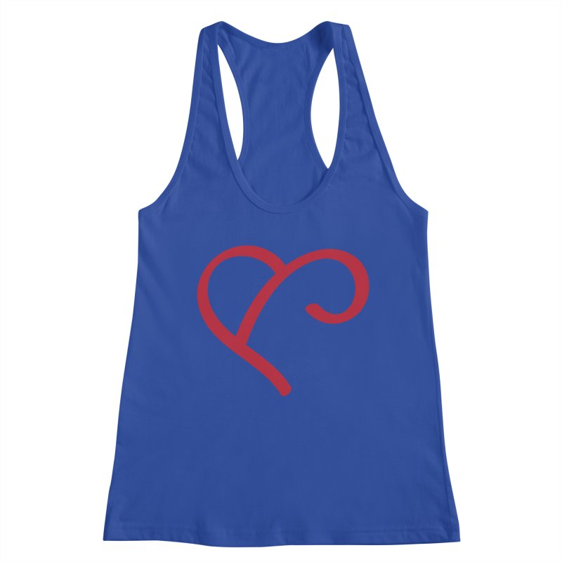 Basic Red Ampersand Women's Racerback Tank by Official Merch of the Fitness Protection Program
