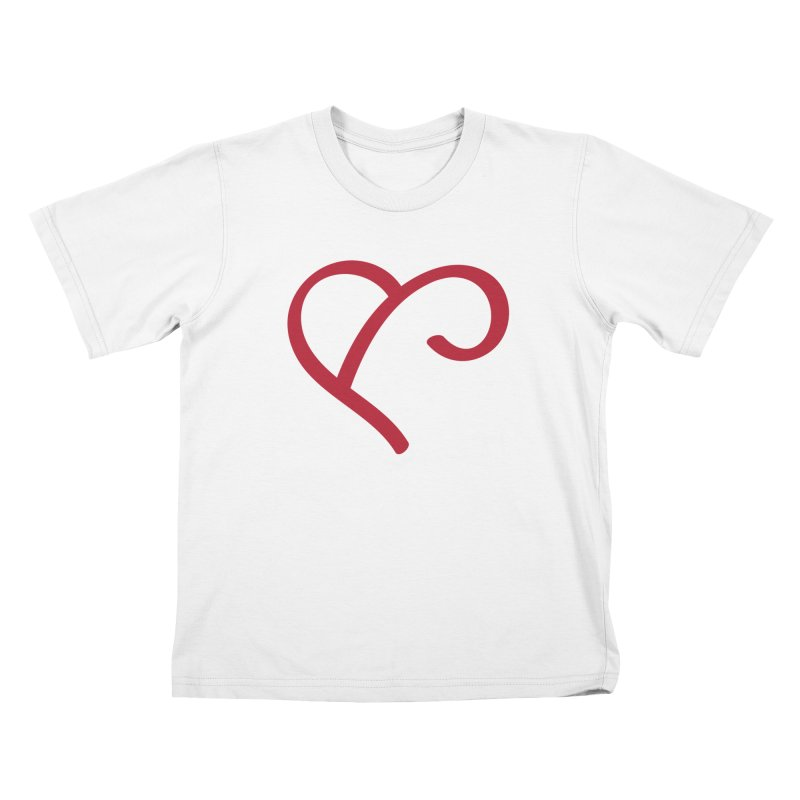 Basic Red Ampersand Kids T-Shirt by Official Merch of the Fitness Protection Program