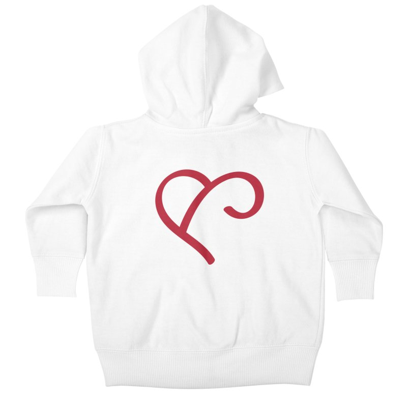 Basic Red Ampersand Kids Baby Zip-Up Hoody by Official Merch of the Fitness Protection Program