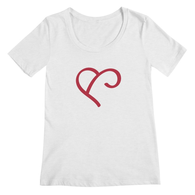 Basic Red Ampersand Women's Regular Scoop Neck by Official Merch of the Fitness Protection Program