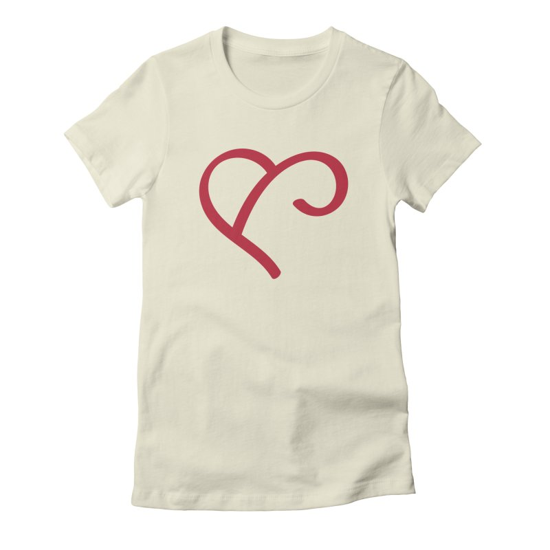 Basic Red Ampersand Women's Fitted T-Shirt by Official Merch of the Fitness Protection Program