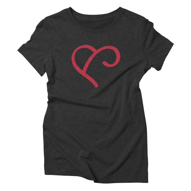 Basic Red Ampersand Women's Triblend T-Shirt by Official Merch of the Fitness Protection Program