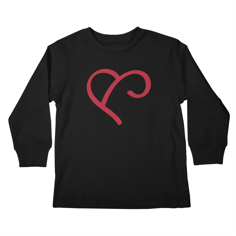 Basic Red Ampersand Kids Longsleeve T-Shirt by Official Merch of the Fitness Protection Program