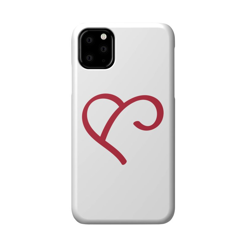 Basic Red Ampersand Accessories Phone Case by Official Merch of the Fitness Protection Program