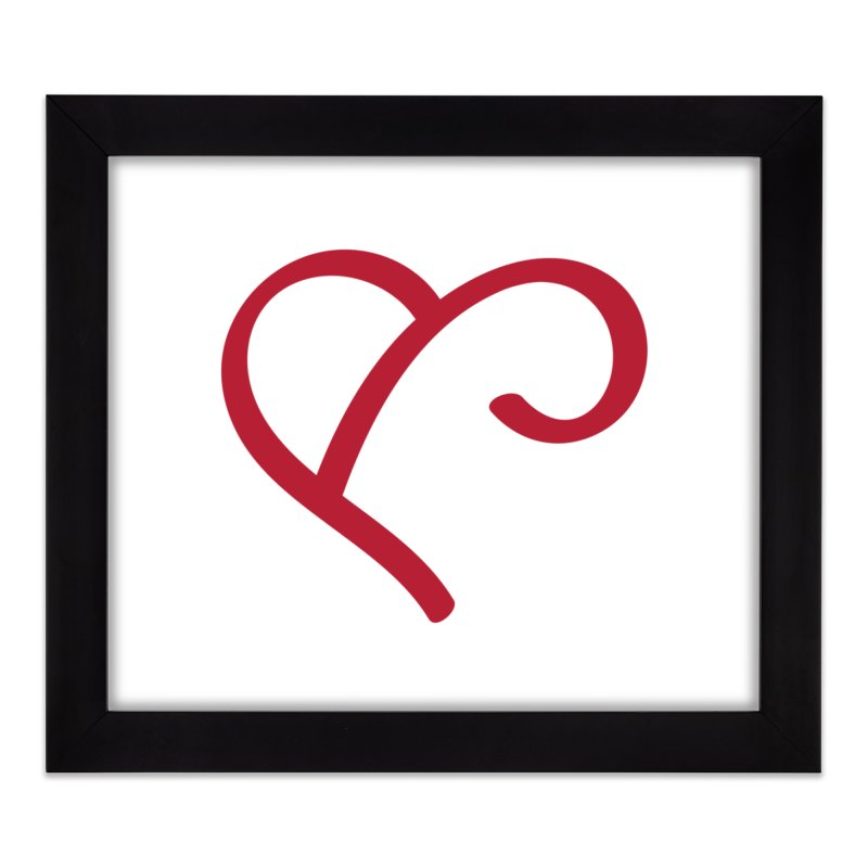 Basic Red Ampersand Home Framed Fine Art Print by Official Merch of the Fitness Protection Program