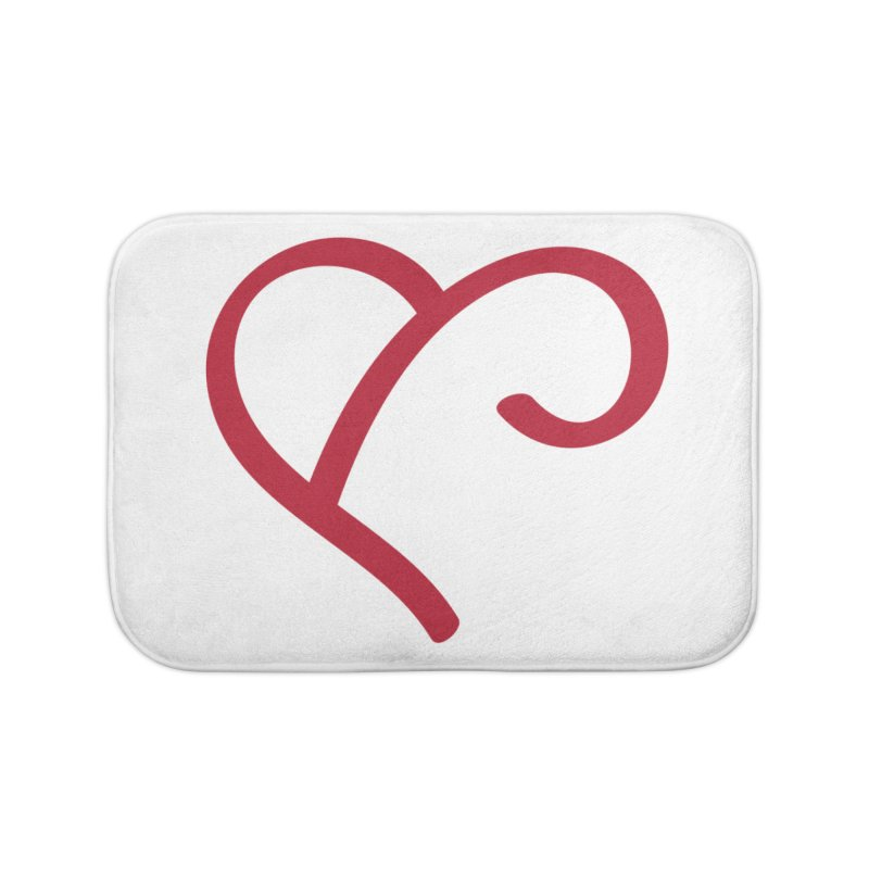 Basic Red Ampersand Home Bath Mat by Official Merch of the Fitness Protection Program