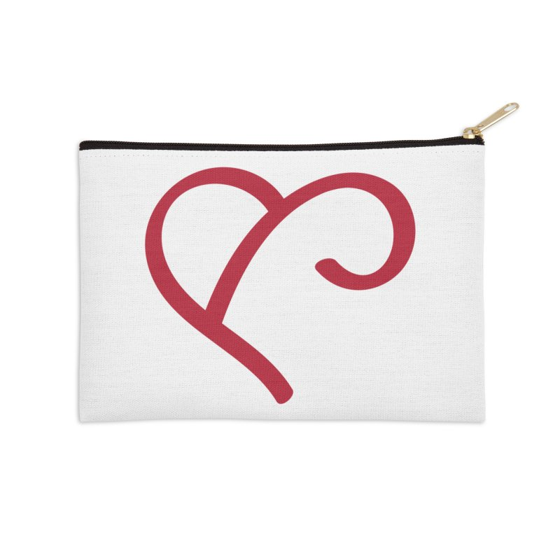 Basic Red Ampersand Accessories Zip Pouch by Official Merch of the Fitness Protection Program
