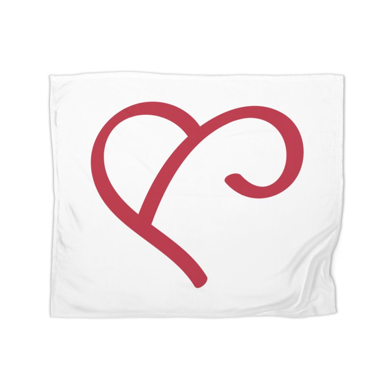 Basic Red Ampersand Home Fleece Blanket Blanket by Official Merch of the Fitness Protection Program