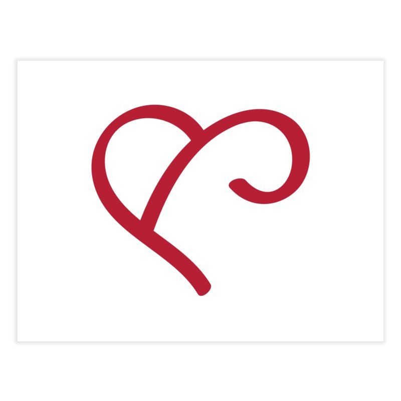 Basic Red Ampersand Home Fine Art Print by Official Merch of the Fitness Protection Program