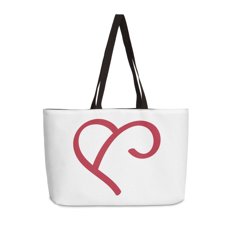Basic Red Ampersand Accessories Weekender Bag Bag by Official Merch of the Fitness Protection Program