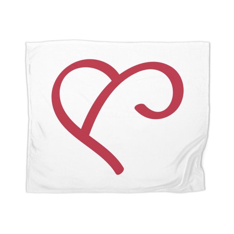 Basic Red Ampersand Home Blanket by Official Merch of the Fitness Protection Program