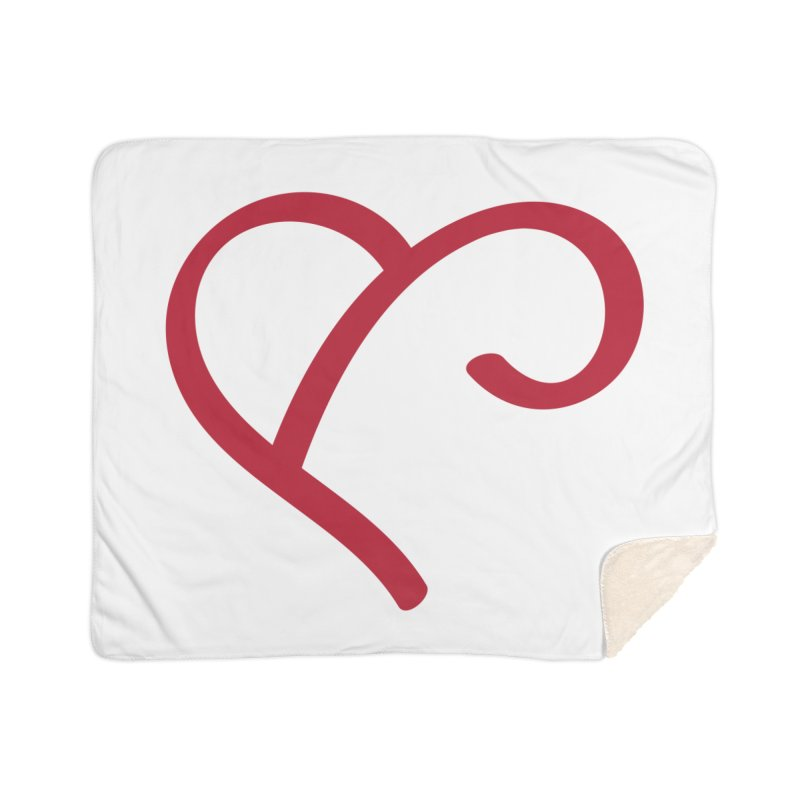 Basic Red Ampersand Home Sherpa Blanket Blanket by Official Merch of the Fitness Protection Program