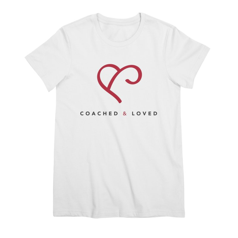 Red Logo Words Women's Premium T-Shirt by Official Merch of the Fitness Protection Program