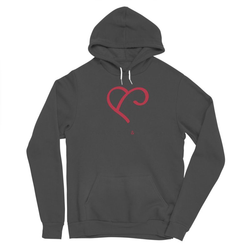 Red Logo Words Women's Pullover Hoody by Official Merch of the Fitness Protection Program