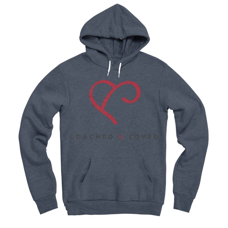 Red Logo Words Women's Sponge Fleece Pullover Hoody by Official Merch of the Fitness Protection Program