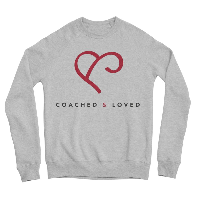 Red Logo Words Women's Sponge Fleece Sweatshirt by Official Merch of the Fitness Protection Program
