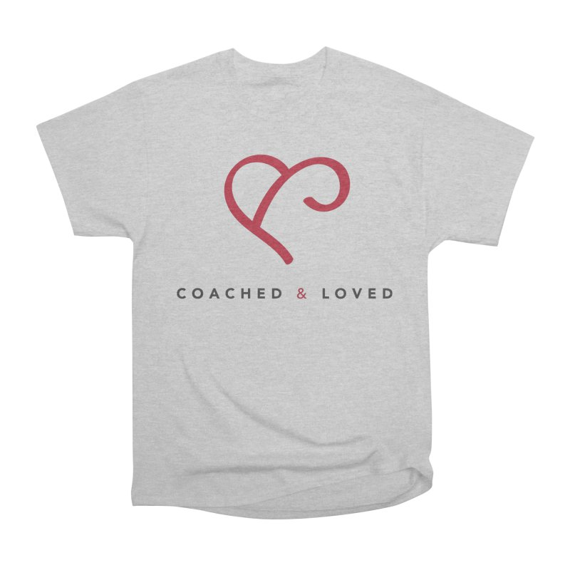 Red Logo Words Women's Heavyweight Unisex T-Shirt by Official Merch of the Fitness Protection Program