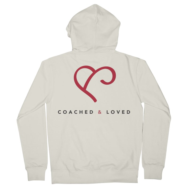 Red Logo Words Women's Zip-Up Hoody by Official Merch of the Fitness Protection Program
