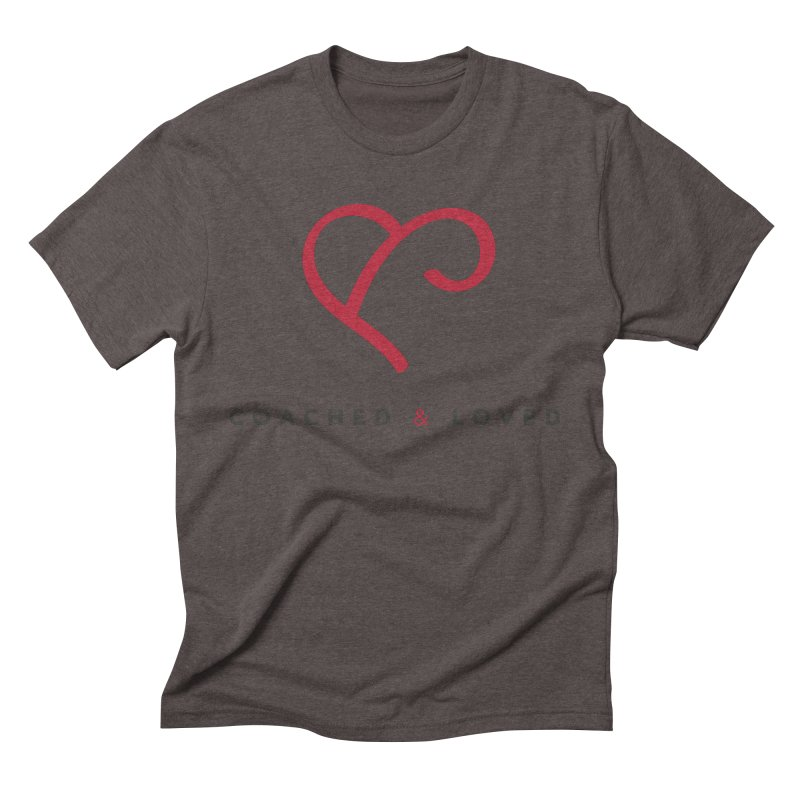 Red Logo Words Men's Triblend T-Shirt by Official Merch of the Fitness Protection Program