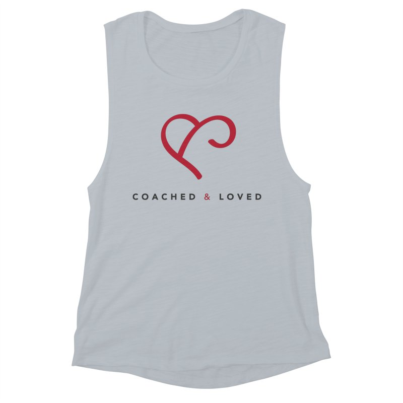 Red Logo Words Women's Muscle Tank by Official Merch of the Fitness Protection Program