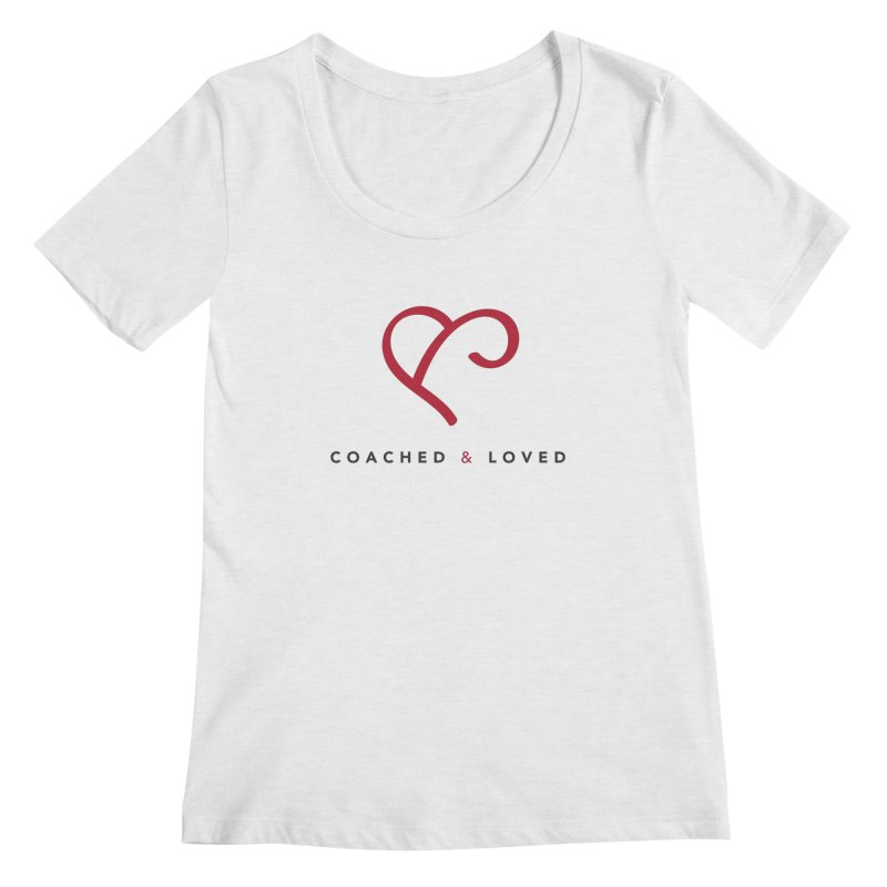Red Logo Words Women's Regular Scoop Neck by Official Merch of the Fitness Protection Program