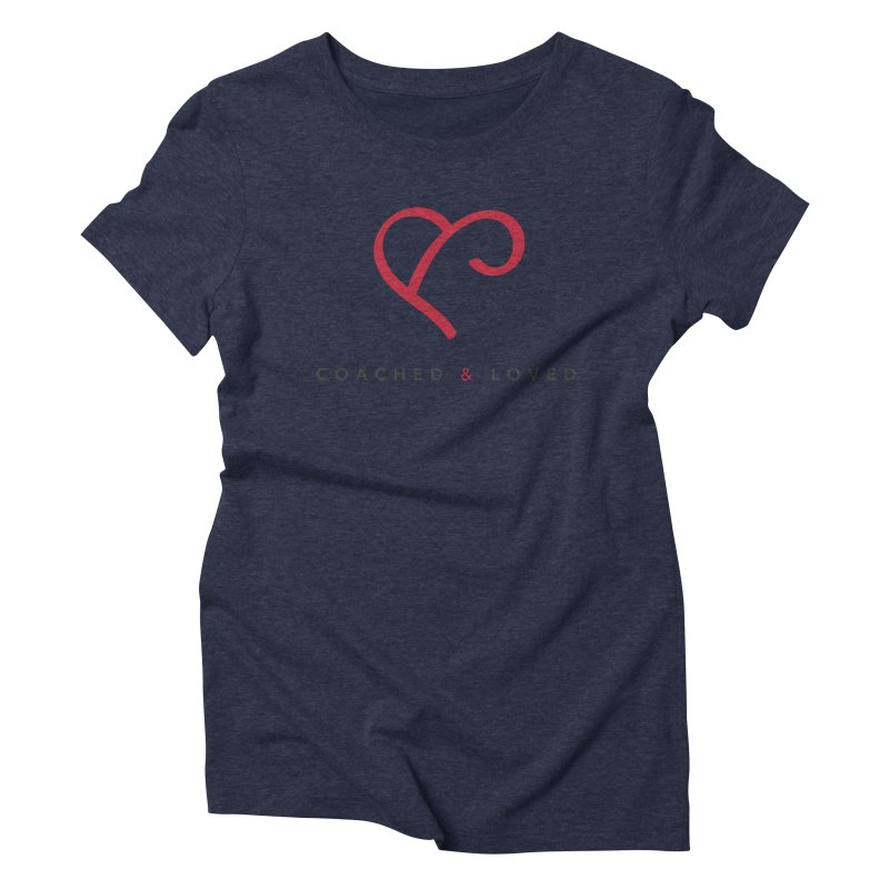Red Logo Words Women's Triblend T-Shirt by Official Merch of the Fitness Protection Program