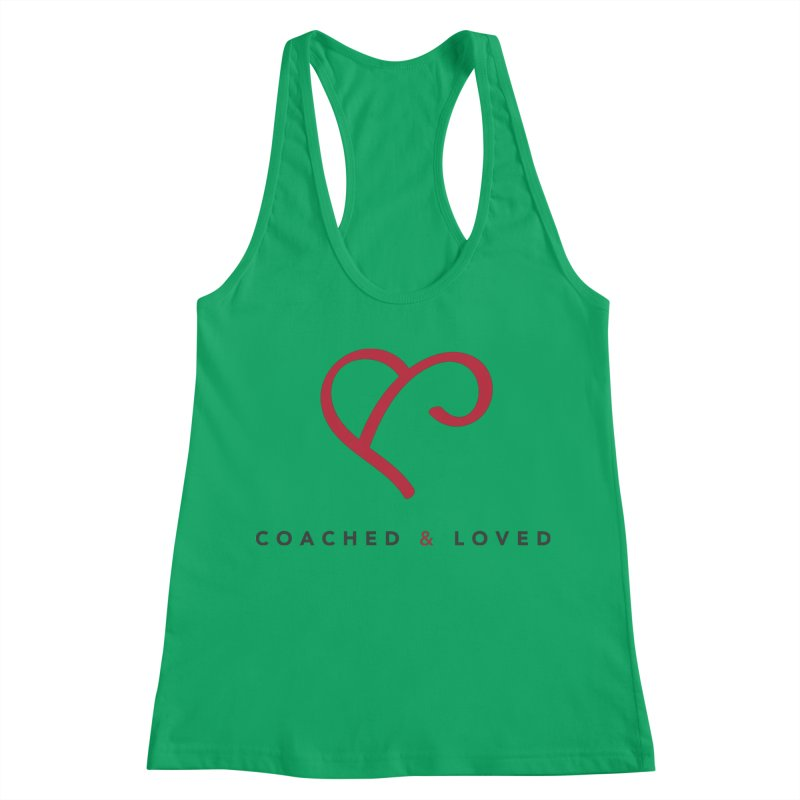 Red Logo Words Women's Racerback Tank by Official Merch of the Fitness Protection Program